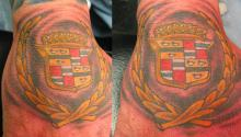 Cadillac tattoo by Kevin Riley Studio One Tattoo Norwood Philadelphia